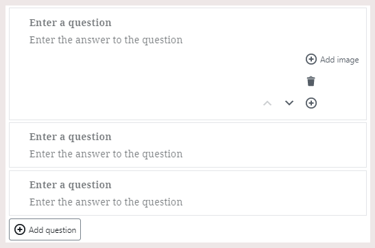 Enter the questions and their respective answers in the Yoast FAQ Schema Block