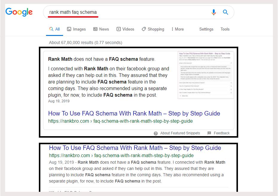 Rank Math FAQ Schema Snippet